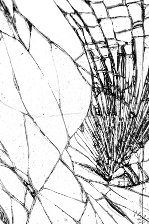 pane: Broken glass texture, cracked in the glass.