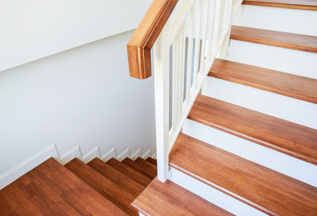wood molding: Wooden stairs