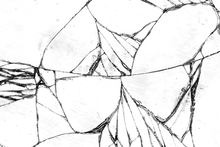 glasscheibe: Glasscherben Textur, rissige im Glas. Lizenzfreie Bilder