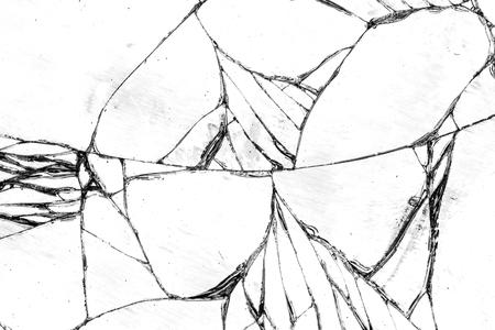 vidrio roto: Textura de vidrio roto, agrietado en la copa.