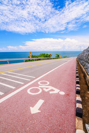 way out: Lane for bicycle along the coastal road.