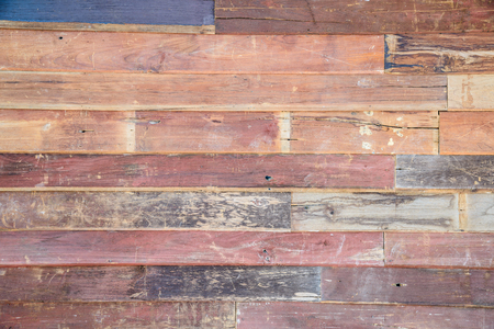 teak: Multicolored teak wood wall background. Stock Photo