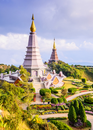 phon: Pagoda in Inthanon national park, Landmark unseen in Thailand Stock Photo