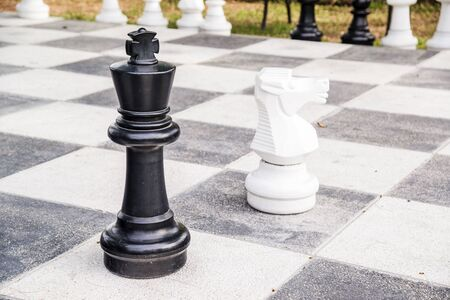 chess board: Chess board with chess pieces