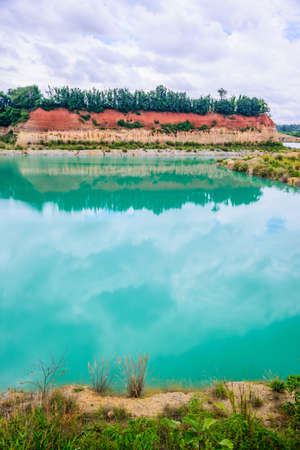 Grand canyon in Chiang Mai, Thailand, Reservoir from old soil mine, Landscape of old reservoir.