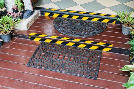 welcome mat: Welcome Mat Inside Doorway Of Home