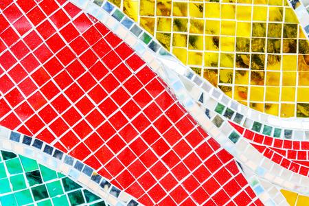 Art mosaic glass or seamless glass mosaic on the wall, glass mosaic background. Stock Photo