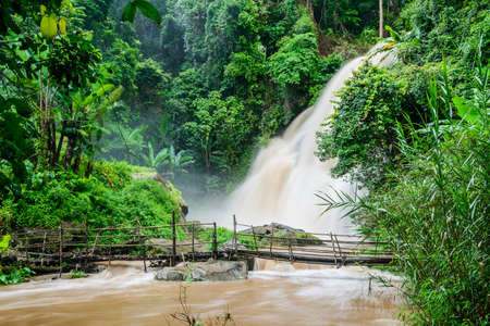 Pha Dok Xu waterfall or Raking waterfall at Doi Inthanon National park , Chiang Mai, Thailand.