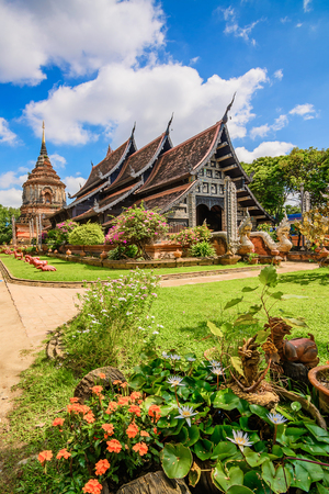 molee: Wat Lok Molee ,Old wooden church and beautiful temple in Chiang Mai. Thailand.
