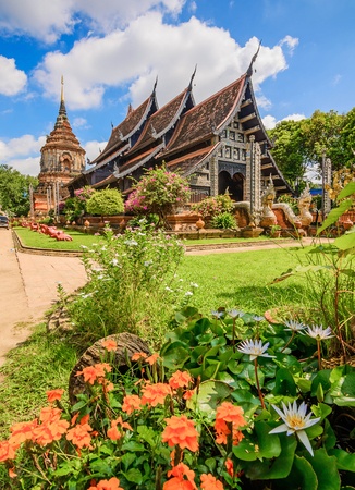 Wat Lok Molee ,Old wooden church and beautiful temple in Chiang Mai. Thailand.