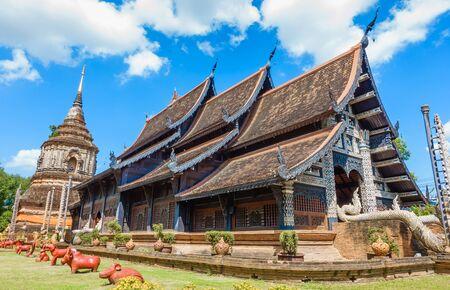 Landmark Temple in Chaing Mai, Wat Lok Mo Lee Temple, Thailand.