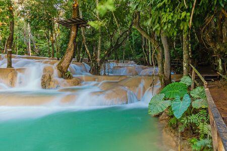 laotian: Tad Sae Waterfall in Luang prabang province, Laos
