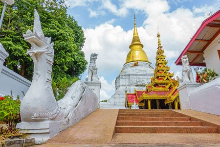 Wat Phra Kaew Don Tao is a Lanna-style Buddhist temple in Lampang Province, Thailand. Stock Photo