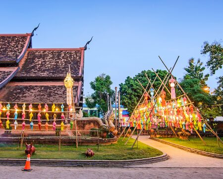Wat Lok Molee Temple,  Old wooden church in Chiangmai, Thailand.