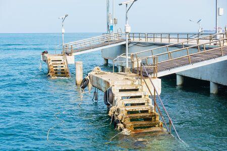Pier at koh lan island, Pattaya, Thailand.