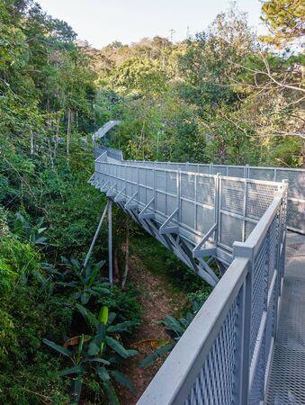 Canopy Walkway in Queen Sirikit Botanic Garden, Chiang Mai, Thailand. Stock Photo