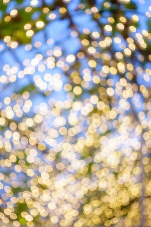 Blurred sparkling lights, Abstract Christmas background.