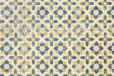 Vintage Ceramic Tiles Wall Decoration. Vintage Floor Tiles Stock ...