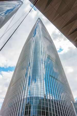 SEOUL, SOUTH KOREA - MAY 26, 2017: Lotte World Tower & Mall in Songpa-gu, is a 123-floor and is the 5th tallest building in the world. Editorial
