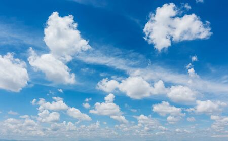 open windows: Blue sky with white clouds , Sky background. Stock Photo