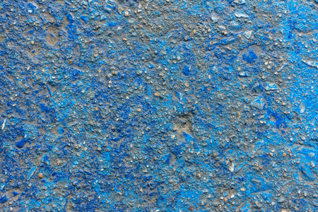 Vivid blue painted rough concrete wall or floor texture background Stock Photo
