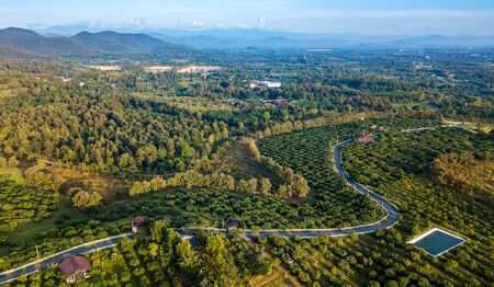 Bird eye view of high Mountain located Chiang Mai district ,Thailand