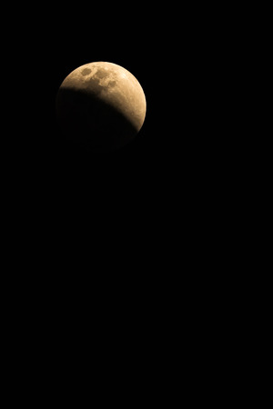 Super Blue Blood Moon on 31 January 2018 in Thailand at 19.31 pm.The rare lunar eclipse, three lunar phenomena (super moon, blue moon and total lunar eclipse)
