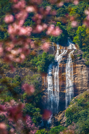 Siribhume or Siriphum Waterfall , famous waterfall at Doi Inthanon National Park in Chiang Mai, Thailand. View amazing, Asia travel nature.