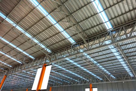 Interior Metal Sheet Roof. Stock Photo
