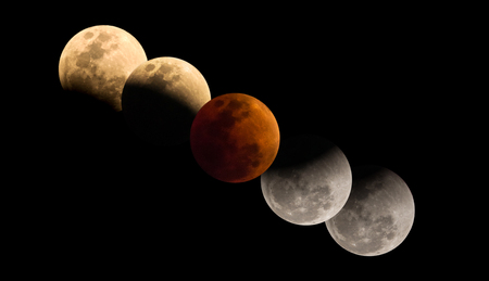 Super Blue Blood Moon, The rare lunar eclipse, three lunar phenomena (super moon, blue moon and total lunar eclipse)
