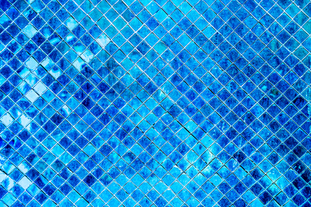 Blue mosaic background, Tile Glass seamless pattern mosaic background for modern Interior design style.