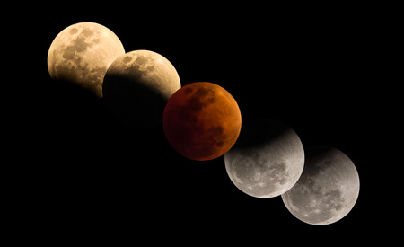 Super Blue Blood Moon, The rare lunar eclipse, three lunar phenomena (super moon, blue moon and total lunar eclipse)