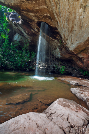 Sang Chan Waterfall , Amazing the hole waterfall (Moonlight Waterfall) in Ubon Ratchathani, Thailand.