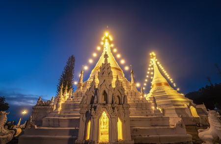 Phra That Doi Kong Mu Temple, Important buddhist temple and a famous tourist destination at Mae Hong Son Province, Thailand.