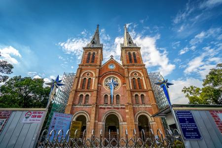 Saigon Notre-Dame Cathedral Basilica in Ho Chi Minh city, Vietnam. Ho Chi Minh is a popular tourist destination of Asia