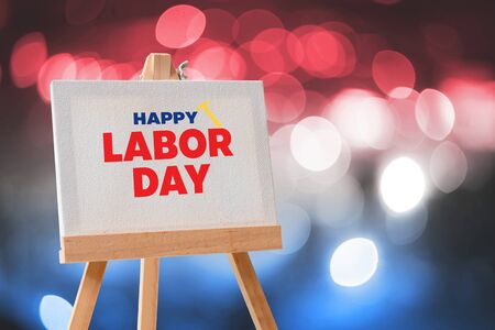 Happy Labor Day Greeting, Happy traditional labor day celebration