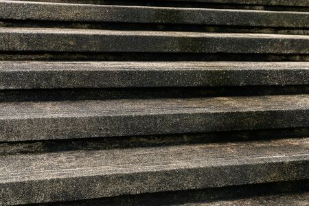 Cement stairs with lemongrass, dirty stairs
