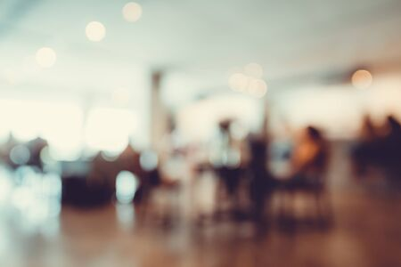Blurred interior background of Coffee Shop or Cafeteria for use as Background