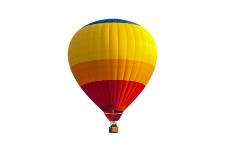 Colorful hot air balloon isolated on white background, Imagens - 131132072