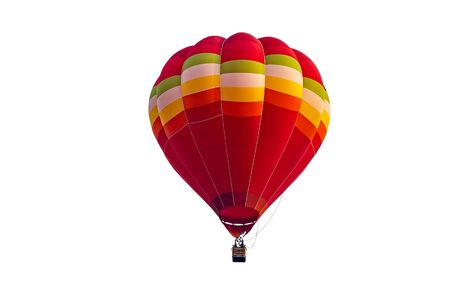 Colorful hot air balloon floating isolated on white background, Imagens - 131132227