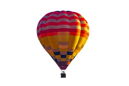Colorful hot air balloon isolated on white background,