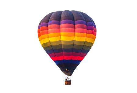 Colorful hot air balloon floating isolated on white background Imagens - 131134736