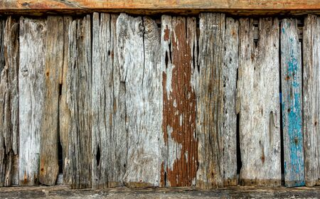 Old wood texture with natural patterns Imagens - 131134908