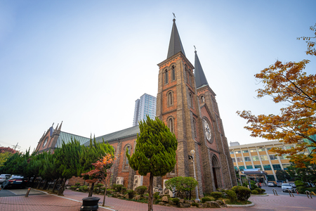Daegu, South Korea - November 6, 2019 : Daegu Jeil Church (1st Church) in Daeugu city, South Korea.