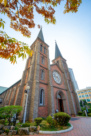 Daegu, South Korea - November 6, 2019 : Daegu Jeil Presbyterian Church (1st Church) in Daegu city, South Korea.