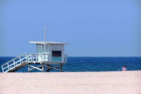 hermosa beach: Lifeguard Station at Hermosa Beach