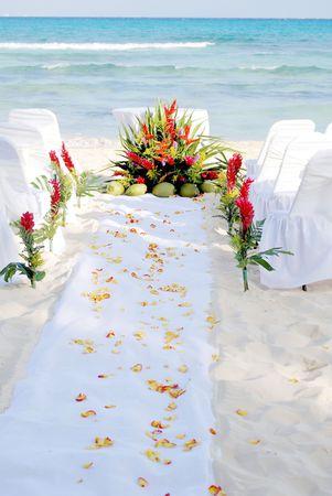 Aisle awaiting a  at a Beach Stock Photo - 3104818