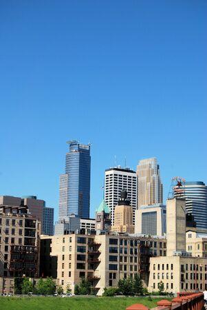 Minneapolis Skyline Op een heldere dag