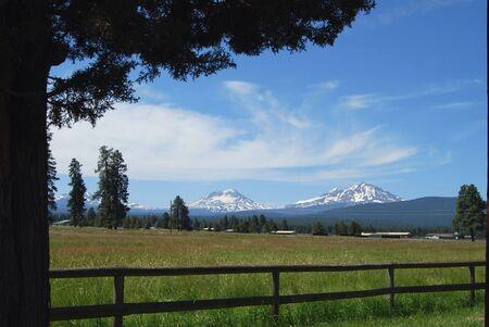 Cascade Mountains in Oregon Stockfoto