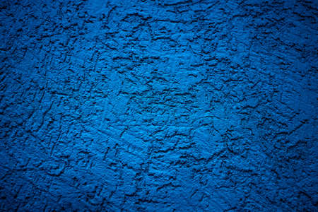 The wall is made of plaster with scratches. Rough surface. abstract blue background. A template for the design of a website or ad. 免版税图像 - 159351994